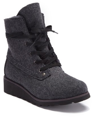 BearPaw Krista Genuine Shearling Lined Lace-Up Boot