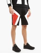 Neil Barrett Black Modernist Neoprene Shorts