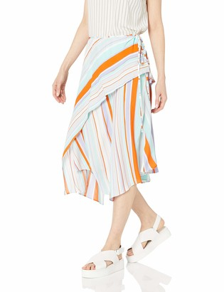 ASTR the Label Women's Palette Layered Wrap Midi Skirt