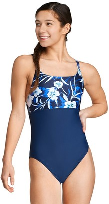 Speedo Women's Mixed Print Cutout One-Piece Swimsuit