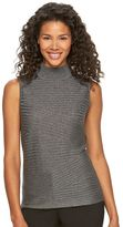 Dana Buchman Women's Ribbed Mockneck Sweater