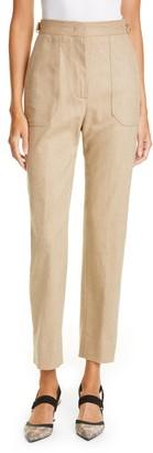 Fendi Stretch Wool & Cashmere Straight Leg Pants