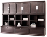 Abbyson Edmond Modular Bookcase Wall (9 PC)