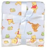 Disney Winnie The Pooh Receiving Blankets - Blue Boy 2 Pack