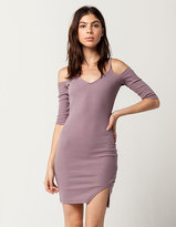 Say What Cold Shoulder Bodycon Dress