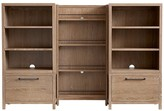 Pottery Barn Kids Charlie Bookrack Wall 2 Drawer Bases & 2 Bookcase Cubbies & 1 Bookrack, Water-Based Smoked Gray