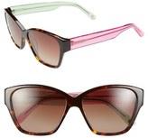 Lilly Pulitzer 'Flora' 57mm Polarized Sunglasses