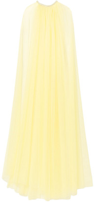 Monique Lhuillier Crystal-embellished Tulle Cape