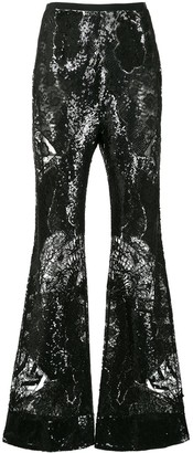 ZUHAIR MURAD Sequinned Lace Flared Trousers