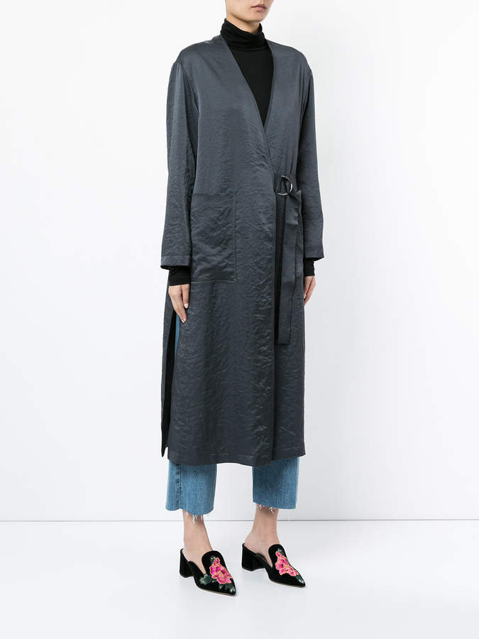 CITYSHOP midi wrap coat