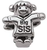 Persona PersonaGirl Sterling Silver Beads and Charms, Big Sis Little Sis