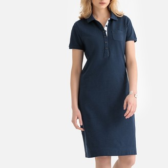 Anne Weyburn Shift Polo Dress in Cotton Pique