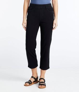 L.L. Bean Women's Perfect Fit Cropped Pants, Five-Pocket Slim Denim