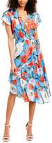 Parker Reina Silk-Blend Midi Dress