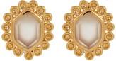 Melinda Maria Alex Moonstone Hexagon Stud Earrings