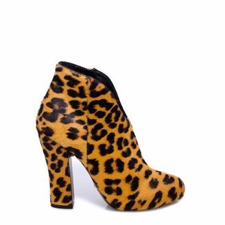 Prada Leopard Print Heel Ankle Boots