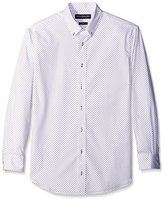 Nick Graham Men's Slim Fit Print Dress Shirt