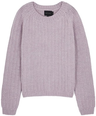 Dune lilac chunky-knit jumper