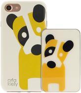 Orla Kiely Iconic Fashion Hardshell Duo Phone Case pack & Portable Battery Charger Power Bank Bundle for iPhone 7 - Dog Design