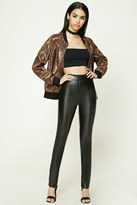 Forever 21 FOREVER 21+ Faux Leather Skinny Pants