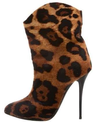 Giuseppe Zanotti Ponyhair Leopard Print Boots