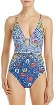 Nanette Lepore Woodstock Goddess One Piece Swimsuit