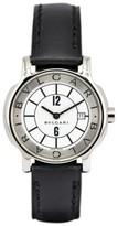 Bulgari Solotempo ST29S Stainless Steel / Leather with Silver Dial 29mm Womens Watch