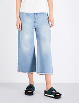 Mo&Co. High-rise flared cropped jeans