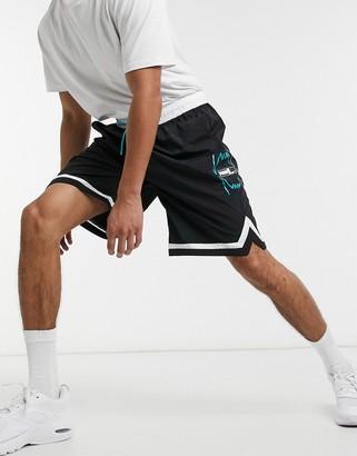 Puma Hoops woven basketball shorts in black