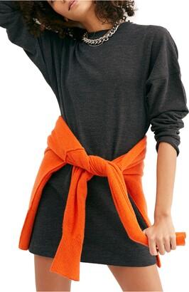 Free People Magnolia Mini Sweatshirt Dress