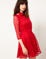 Nishe Lace Dress With Collar