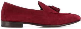 Henderson Baracco Tassel Detail Suede Loafers