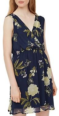Vero Moda Floral Print Cinched Waist Dress