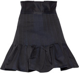Ellery Kyoto Pleated Taffeta Mini Skirt - Midnight blue