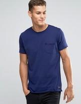Brave Soul Plain Raw Edge T-shirt