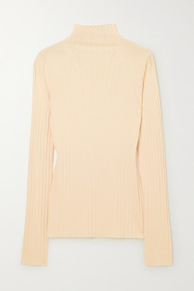 The Row Bottani Ribbed Merino Wool And Cashmere-blend Sweater - Beige