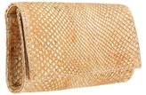 Carlos Falchi Handbags Brushed Metallic Anaconda Box Clutch
