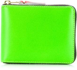 Comme des Garcons Colour Block Zip Wallet