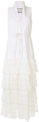 Alexis Brinna panelled tiered dress