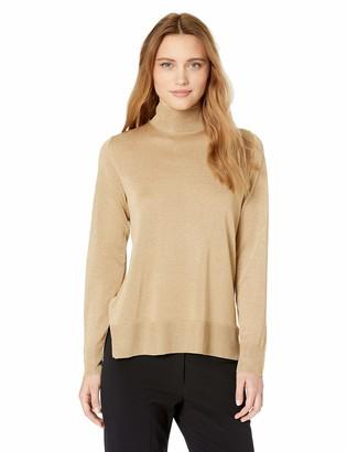 Anne Klein Women's Mock Neck Long Sleeve Sweater