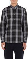Paul Smith Men's Plaid Cotton Button-Down Shirt-GREY