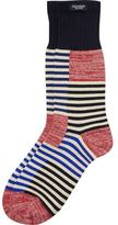 Scotch & Soda Amsterdams Blauw Striped Socks