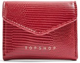 Topshop Pop Flap Embossed Faux Leather Card Holder