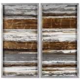Uttermost Metallic Layers 2-Pc. Modern Wall Art
