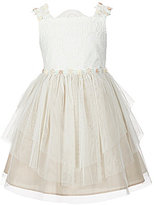 Rare Editions Little Girls 2T-6X Lace Asymmetrical-Hem Dress