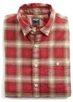 Todd Snyder Red Plaid Flannel Button Down Shirt