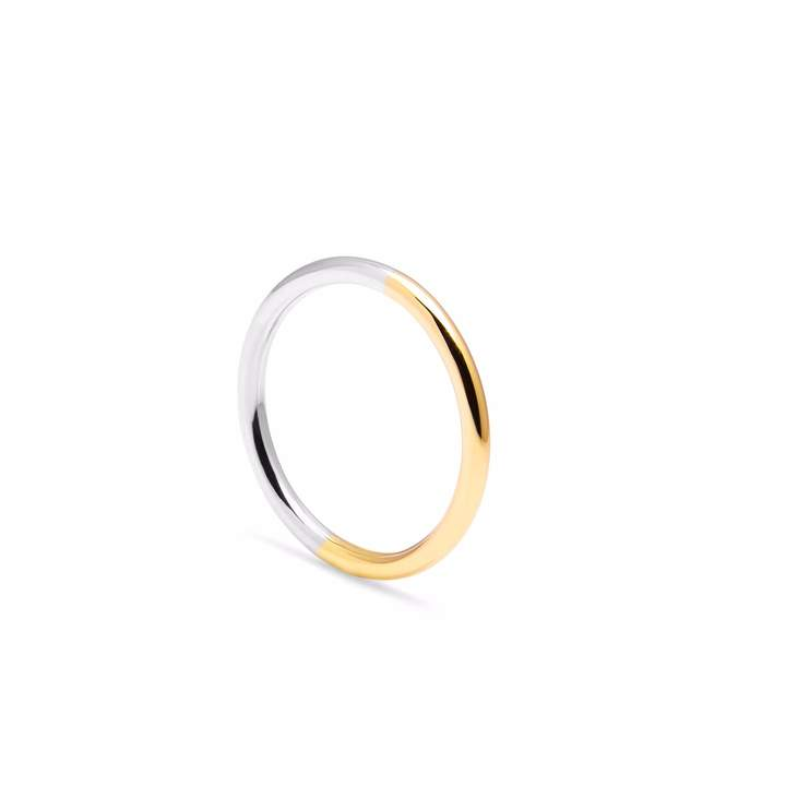 Myia Bonner 9ct Yellow Gold & Silver Round Band