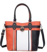 Sally Young Women's PU Leather Handbag Fashion Zipper Shoulder Bags Top-Handle Tote Purse Bag