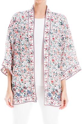 Max Studio Printed Wide Sleeve Kimono