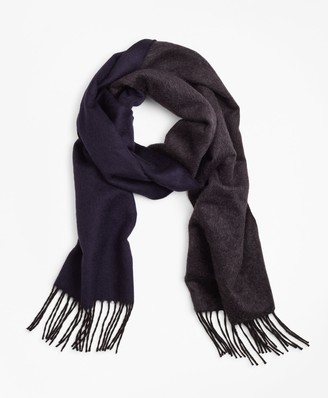 Brooks Brothers Double-Face Silk and Cashmere Scarf